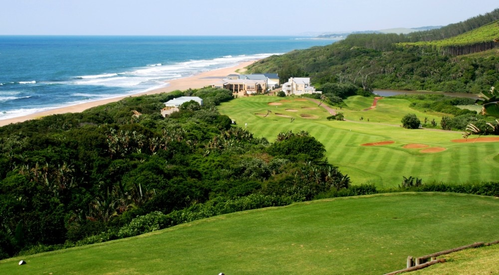 View from 15th tee Box at prince's Grant over Indian Ocean